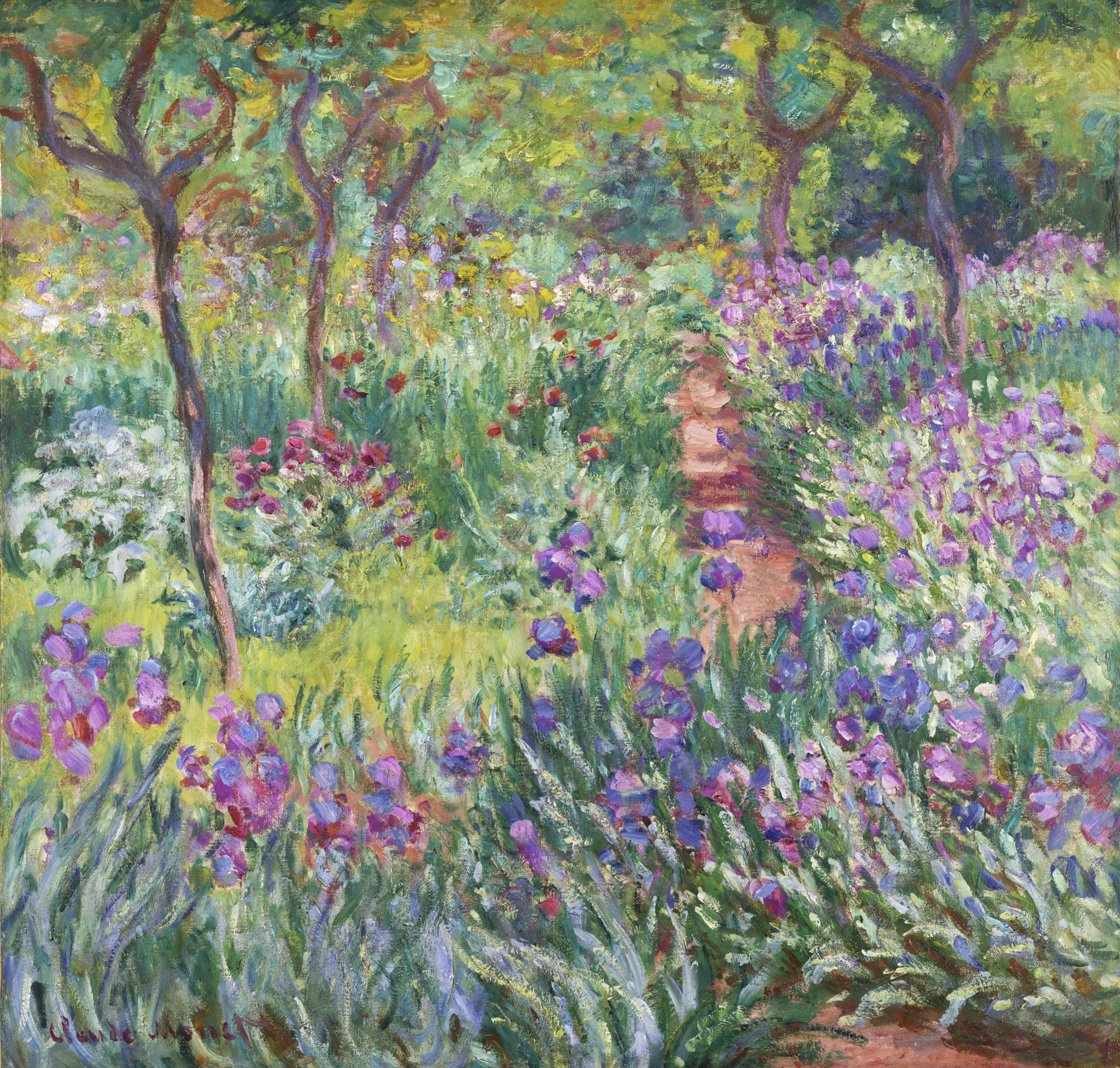 (NPR) The Artistu0027s Garden In Giverny Is One Of The Two Monet Paintings On  Display At The New York Garden. Painted In 1900, It Offers A Glimpse Of  Monetu0027s ...