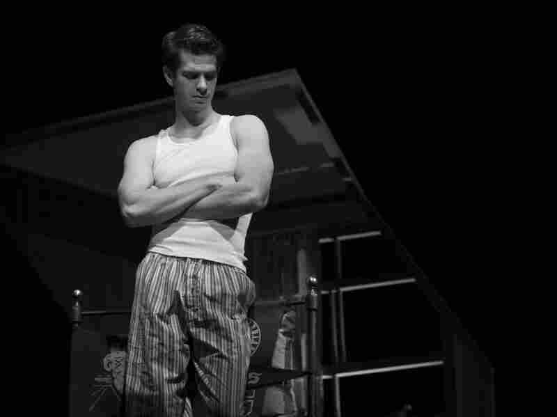 Andrew Garfield as Biff Loman in Death of a Salesman, directed by Mike Nichols.