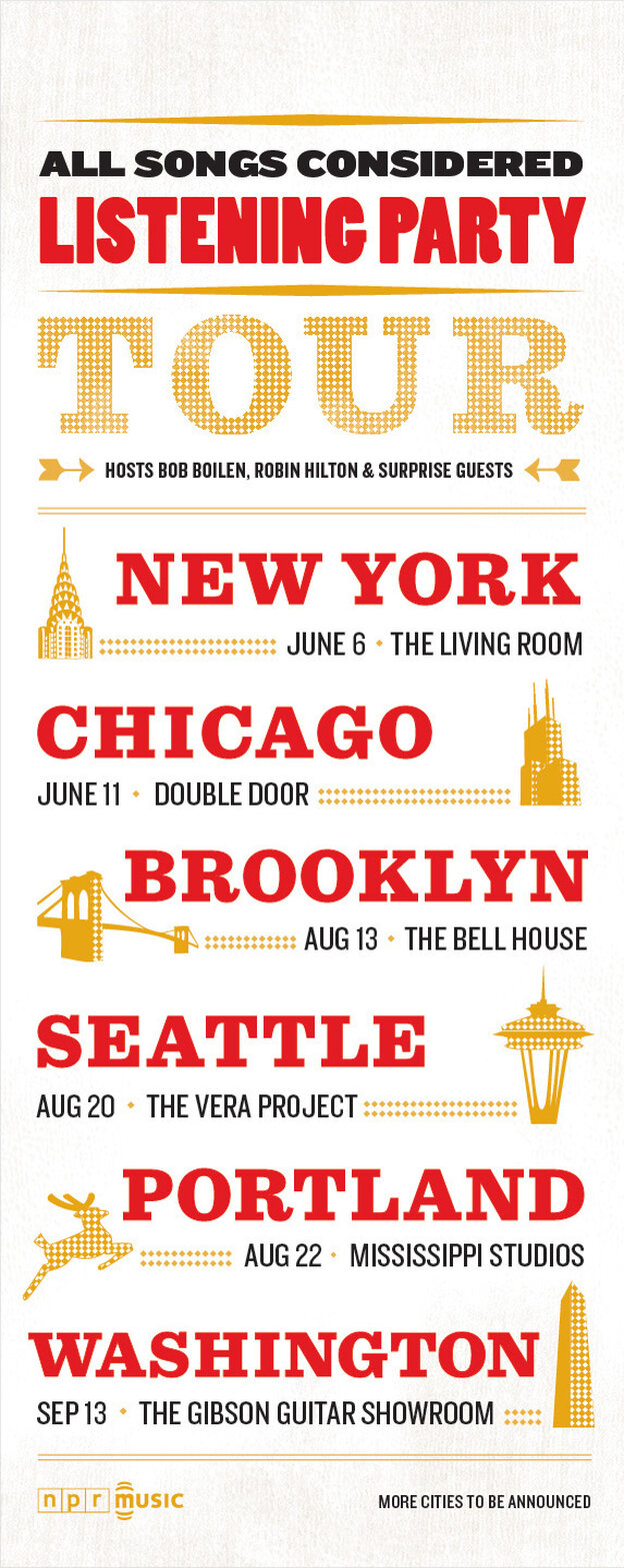 All Songs Considered tour poster