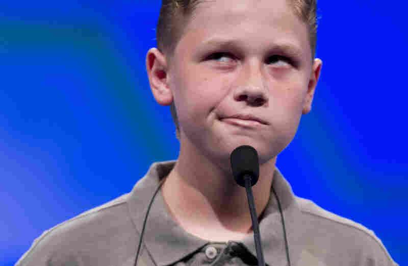 "Nathan Dugan, of Canton, Ohio, spells ""cantankerous."""