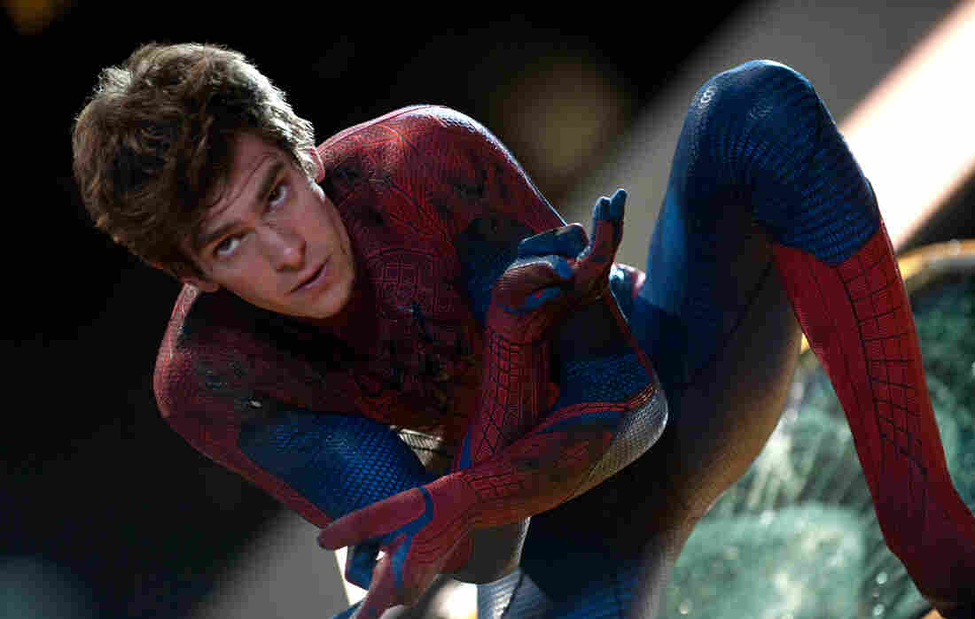 Andrew Garfield plays Peter Parker and his superheroic alter ego in The Amazing Spider-Man, Marvel Comics' reboot of the popular superhero film franchise, in theaters July 3.