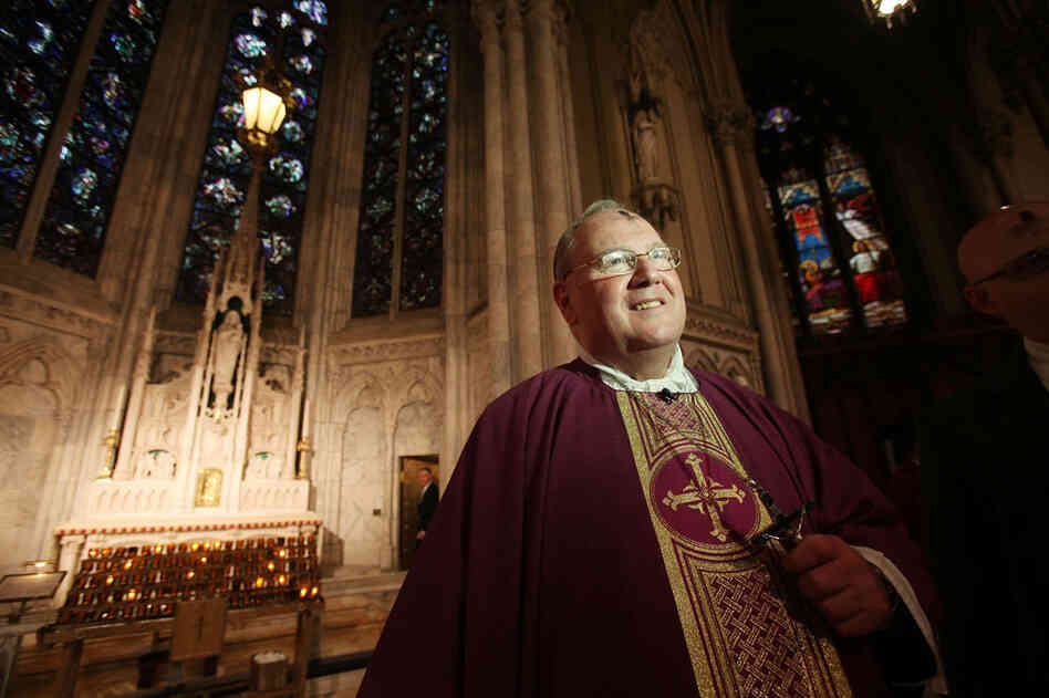 Archbishop Timothy M. Dolan, head of the U.S. Conference of Catholic Bishops, shown at Ash Wednesday services at Saint Patrick's Cathedral in 2011.