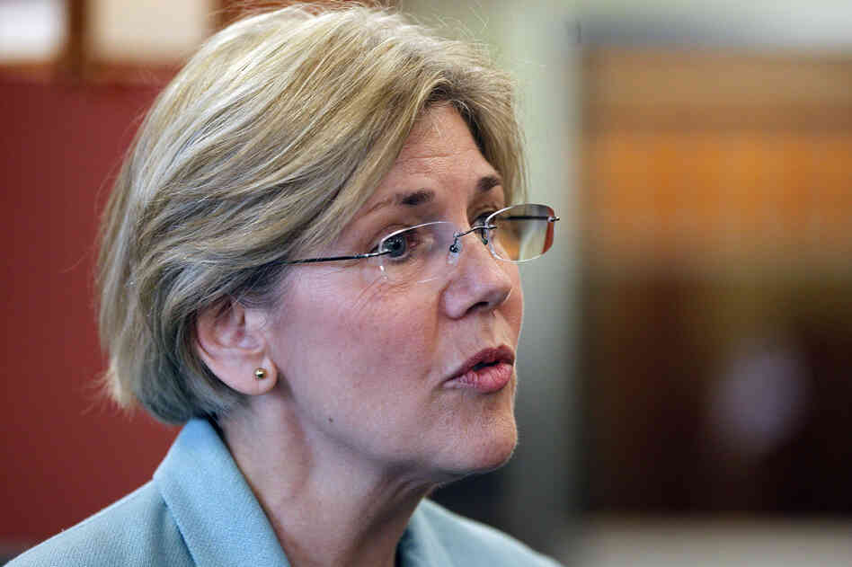 Democratic candidate for the U.S. Senate Elizabeth Warren.