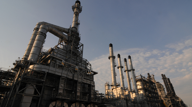 Expanding the refinery at Port Arthur, Texas, took five years and $10 billion. The facility can now process 600,000 barrels a day.