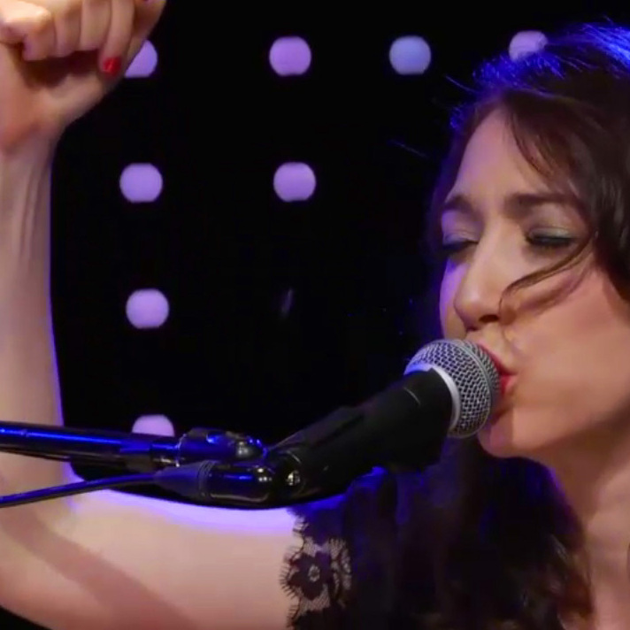 Regina Spektor, performing live at Le Poisson Rouge in New York City, on May 31, 2012