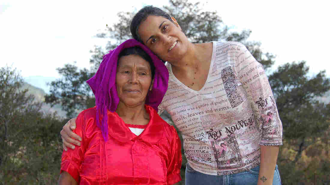 Ritu Sharma (right), shown during a visit to Honduras, makes one trip a year to live with underprivileged women, one week at a time, living as the women there live.