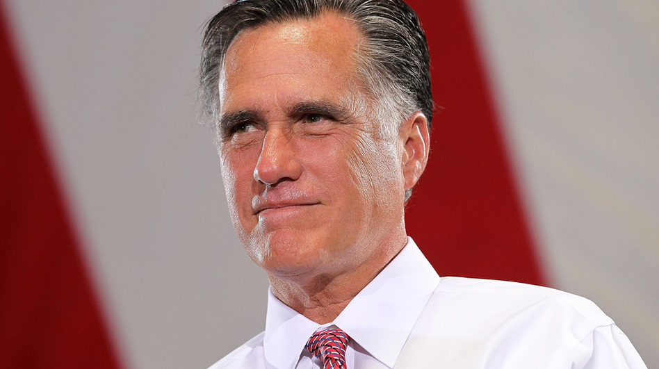 Republican presidential candidate Mitt Romney speaks during a campaign rally Tuesday in Las Vegas.