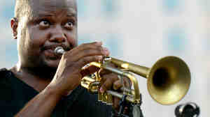 Sean Jones performs at the Detroit Jazz Festival.