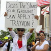 Selina Gray of Sanford, Fla., at a protest there on March 31.