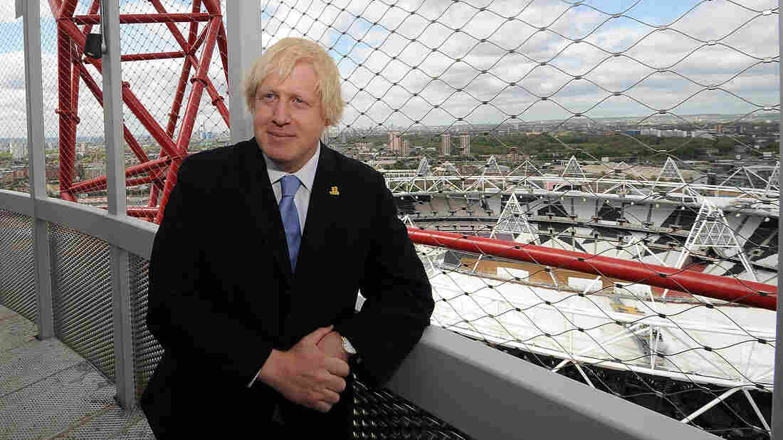 London Mayor Boris Johnson stands atop the ArcelorMittal Orbit, an observation tower in London's Olympic Park, at its unveiling on May 11. Johnson is the author of Johnson's Life of London: The People Who Made the City That Made the World.