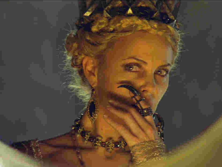 Charlize Theron plays Queen Ravenna, who literally sucks the life out of female prisoners to keep herself looking young and vibrant.