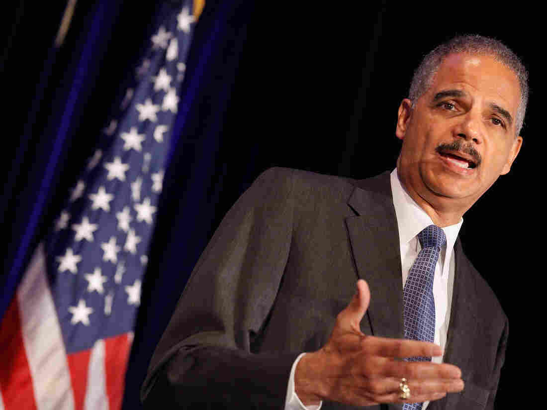 Attorney General Eric Holder addresses the Congressional Black Caucus Faith Leaders Summit and National Black Churches Annual Consultation on Wednesday in Washington.