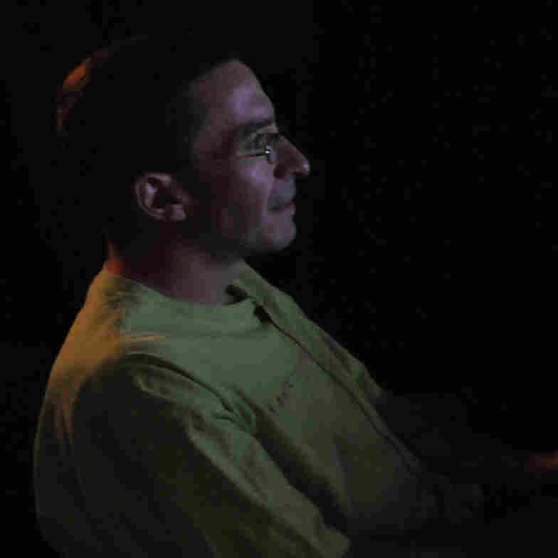 Jeff Hudale, who is autistic, demonstrates a face recognition test at the University of Pittsburgh in 2010. Researchers use eye tracking devices to monitor and record what he is looking at.