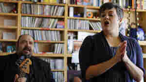Kelly Hogan performs a Tiny Desk Concert at the NPR Music offices.