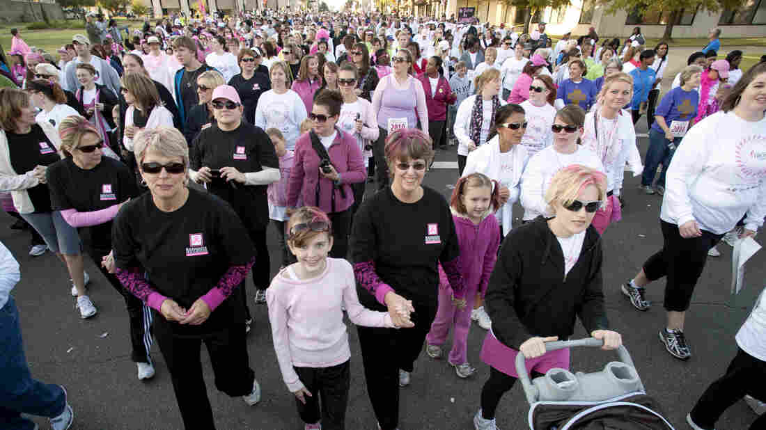 An estimated 45,000 people took part in the Susan B. Komen Race for the Cure