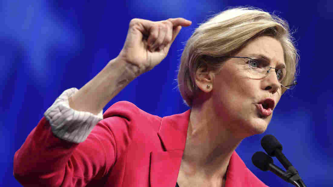 Democratic U.S. Senate candidate Elizabeth Warren addresses the Democratic State Convention before the delegate vote in Massachusetts Saturday.