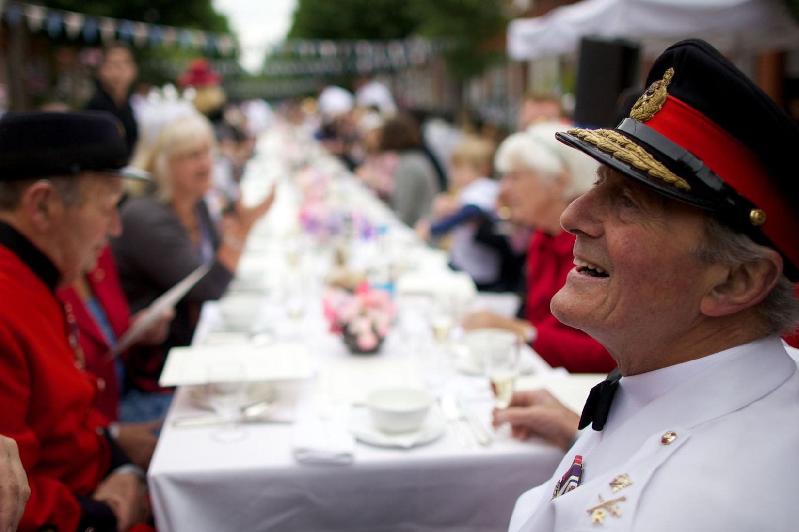 Residents of Battersea in south London organized a street party on Saturday.