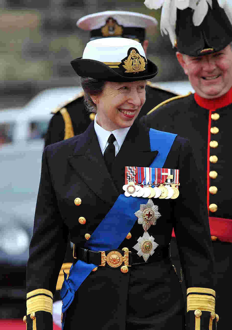 Princess Anne, the queen's daughter, joined the cruise. British monarchs used the Thames as their main highway for centuries, and naval power built the island nation's once-great empire.