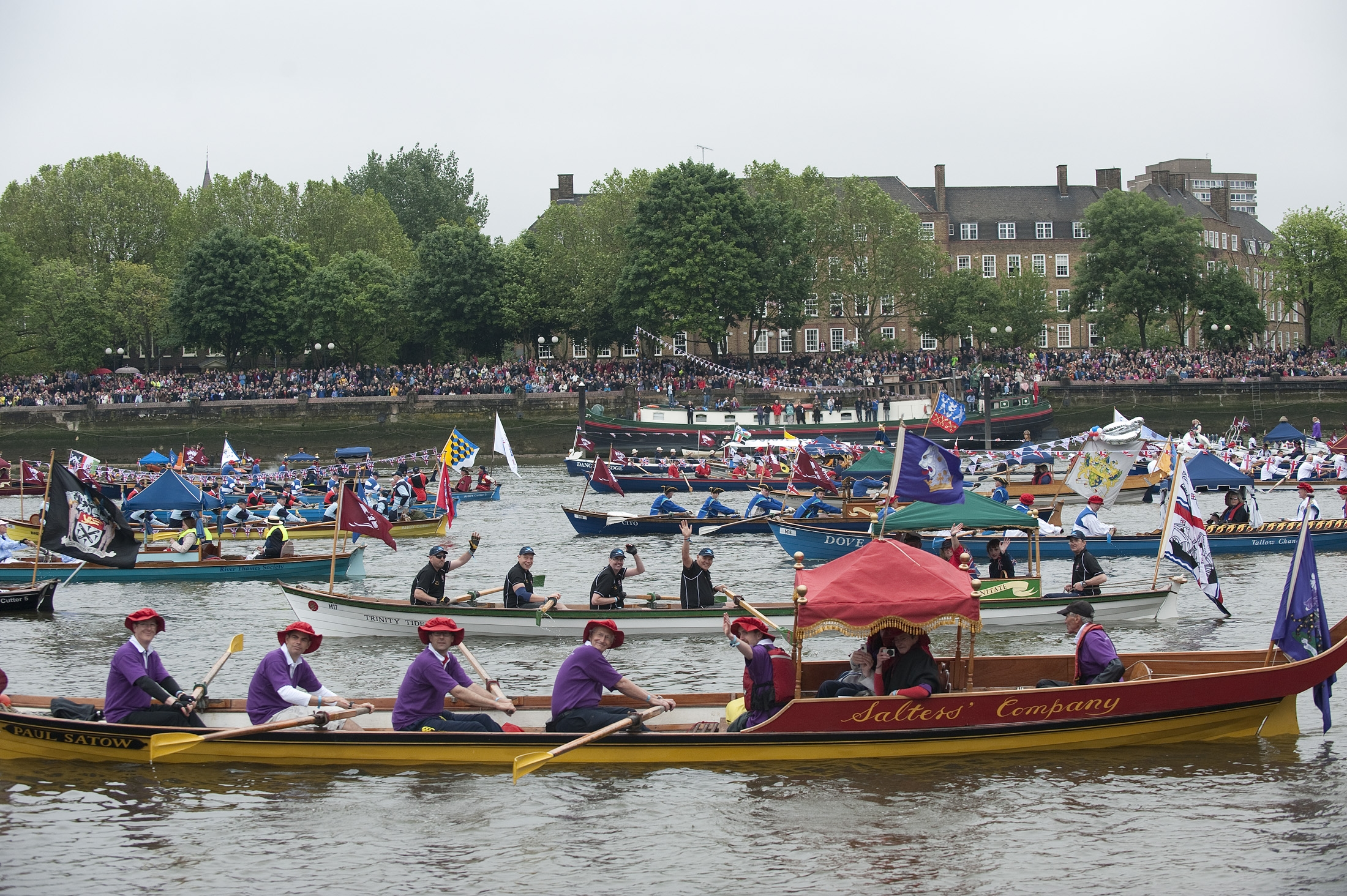 "River processions were once common in London. The last comparable royal pageant was held for King Charles II in 1662, when diarist Samuel Pepys recorded boats so numerous he could ""see no water."""