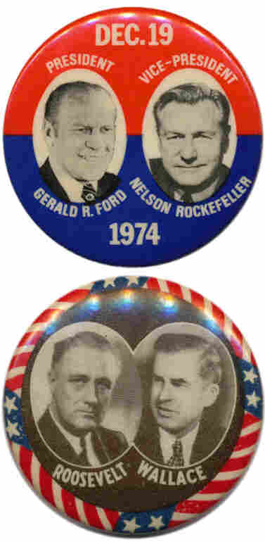 Vice Presidents Rockefeller ('75) and Wallace ('44) were pushed out.