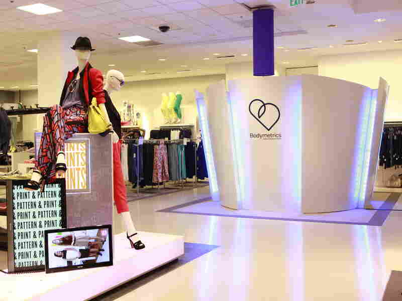 In a few stores, customers can enter a Bodymetrics pod to be scanned and measured for clothing.