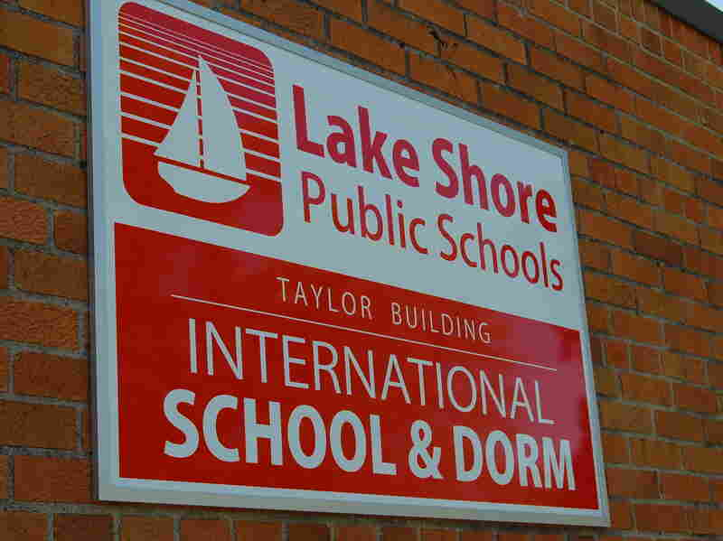 Lake Shore Public Schools spent $640,000 to transform a dated building into a dorm to house the Chinese students.