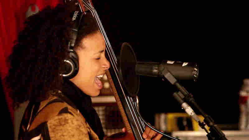 "Esperanza Spalding performs for ""Morning Becomes Eclectic."""