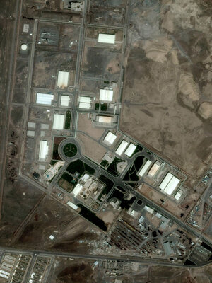 The Natanz facility, shown here in a photo taken May 14, 2009, is about 150 miles from Tehran.
