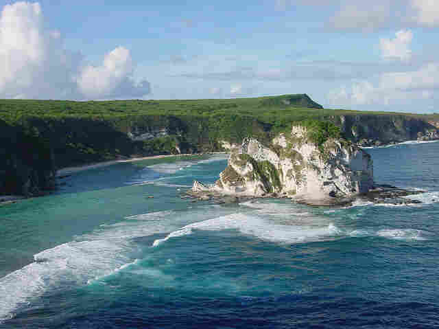 The Northern Mariana Islands: white sand, blue water and