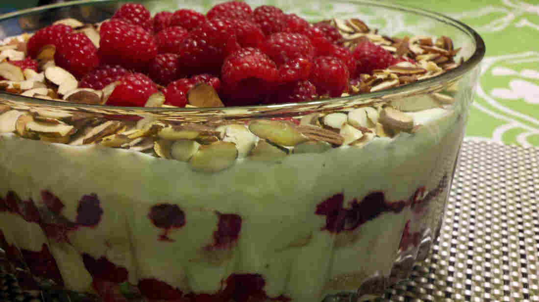 Raspberry, White Chocolate And Almond Trifle