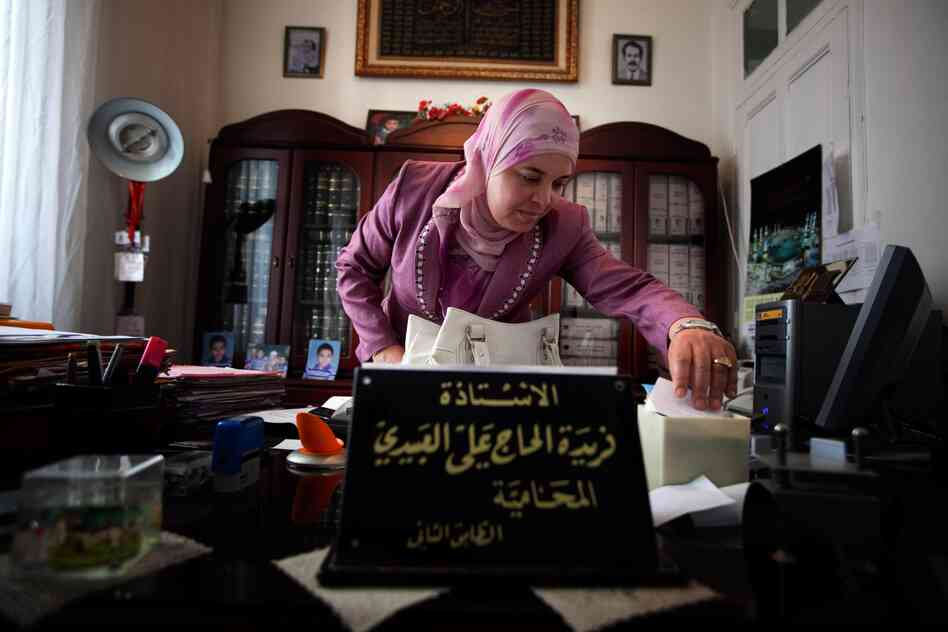 "Lawyer Ferida Lebidi heads the commission writing the ""rights and liberties"" section of Tunisia's new constitution. She belongs to an Islamist party that is considered moderate, though she advocates capital punishment for adultery."