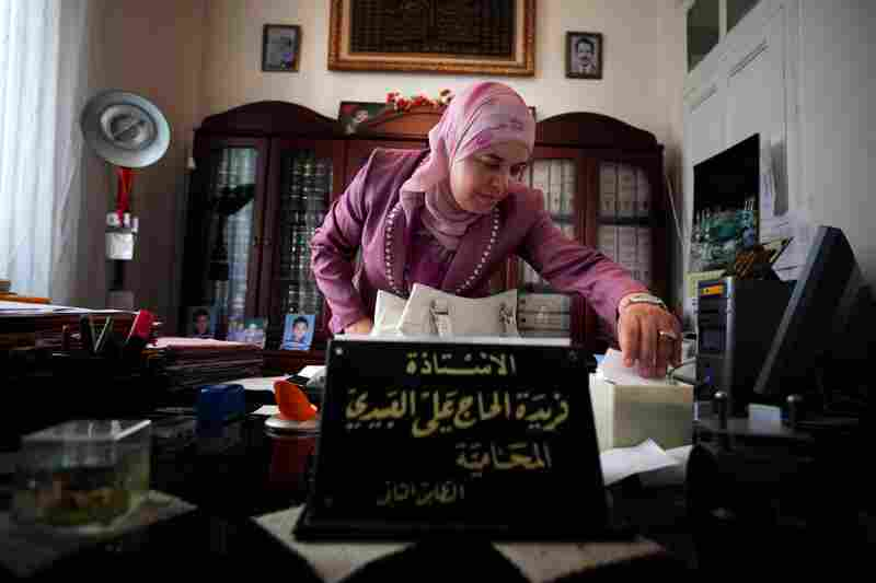 """Lawyer Ferida Lebidi heads the commission writing the """"rights and liberties"""" section of Tunisia's new constitution. She belongs to an Islamist party that is considered moderate, though she advocates capital punishment for adultery."""