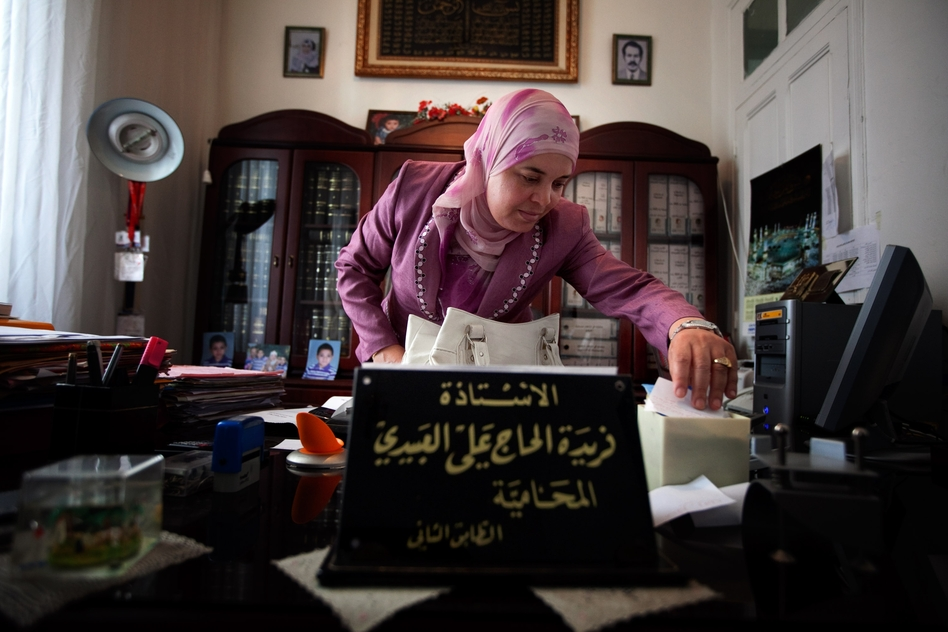 "Lawyer Ferida Lebidi heads the commission writing the ""rights and liberties"" section of Tunisia's new constitution. She belongs to an Islamist party that is considered moderate, though she advocates capital punishment for adultery. (NPR)"