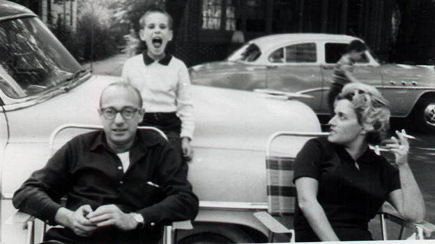 All Songs Considered host Bob Boilen, possibly singing with his parents, circa 1959. (Courtesy of Bob Boilen)