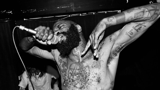 MC Ride of Death Grips. (Jonathan Magowan)