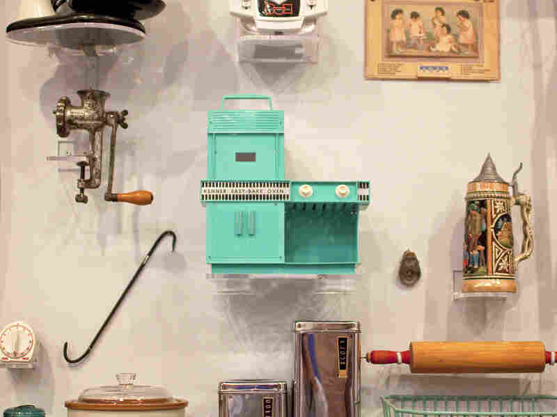 """The original boxy, turquoise, incandescent Easy-Bake has pride of place among kitchen appliances at the National Building Museum's House and Home exhibit. """"It's something people always point at,"""" says curator Sarah Leavitt. """"It inspires a lot of love and nostalgia."""""""