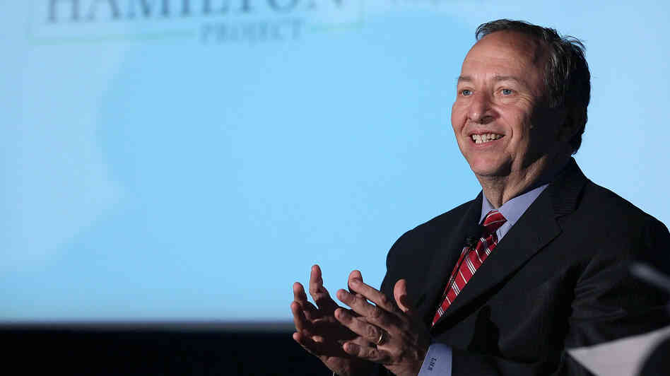 Former Treasury Secretary Lawrence Summers speaks during a discussion about tax codes and revenue hosted by the Brookings Institute on May 3 in Washington.