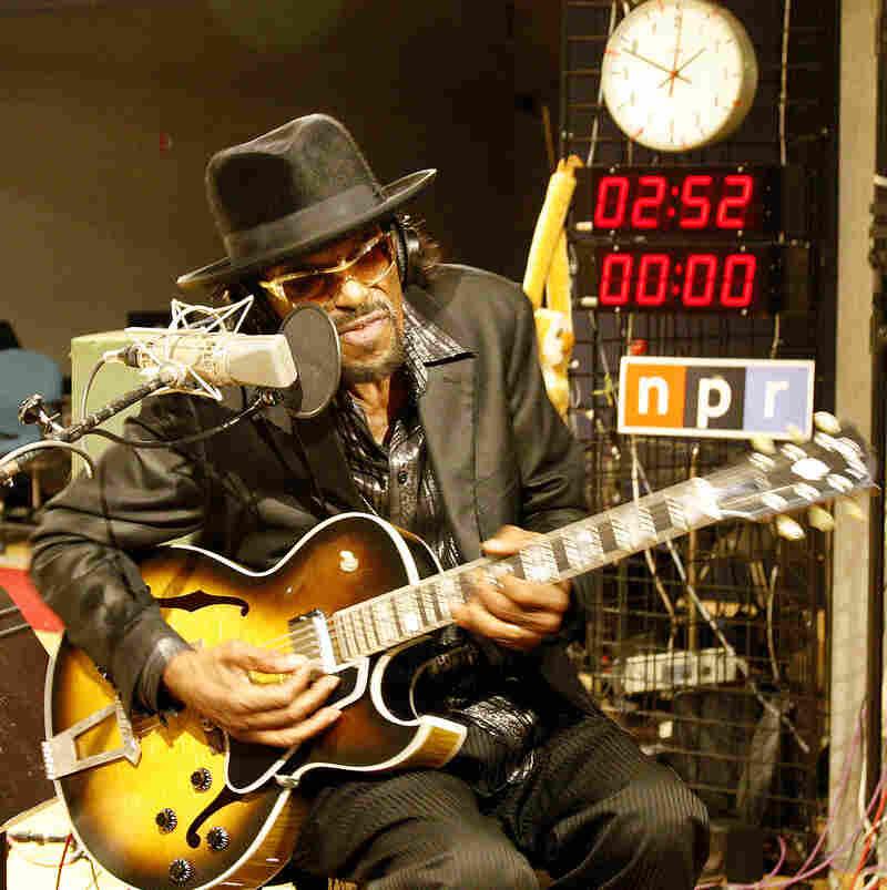 Chuck Brown performs at NPR.