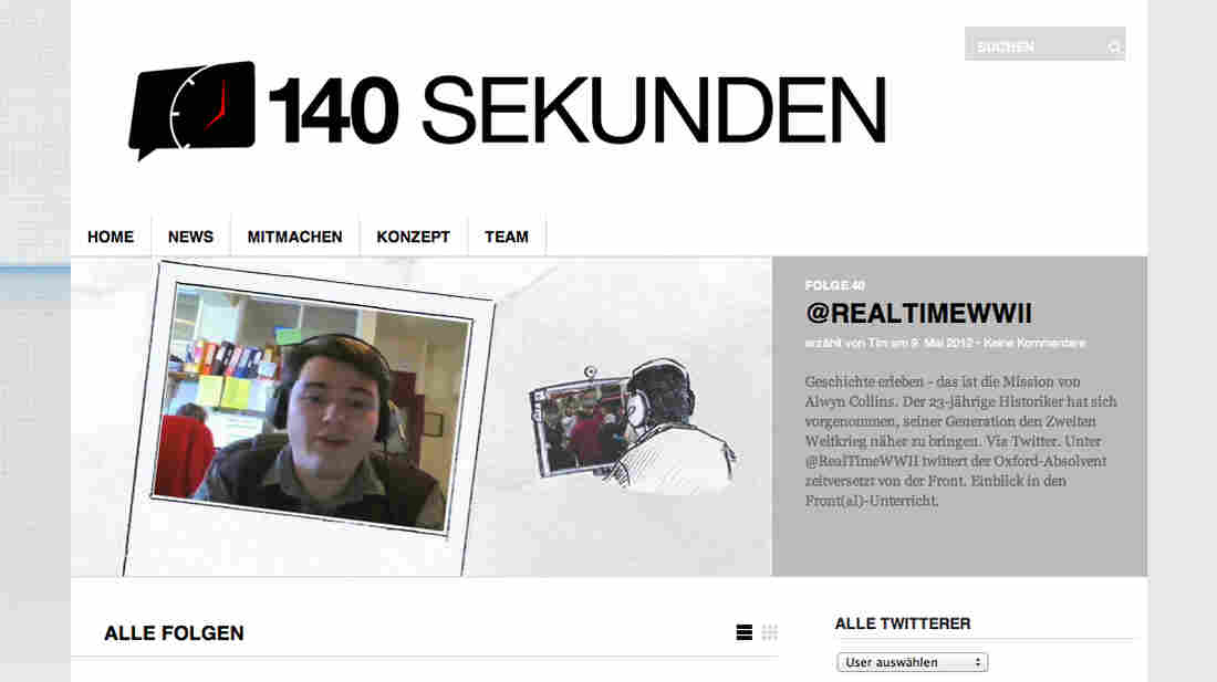 Inspired by the Twitter format of 140 characters per message, filmmaker Mia Meyer and a colleague started 140 Seconds, a website that films Twitter users telling their stories in 140 seconds. So far, 44 video's have been uploaded.