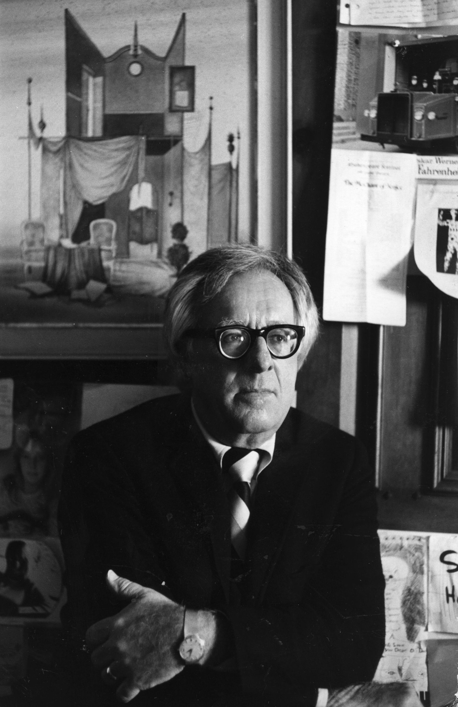 Science fiction writer Ray Bradbury.
