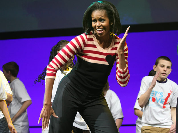"More than 10,000 children from Iowa schools joined Michelle Obama during the ""Let's Move"" interactive celebration in Des Moines this February."
