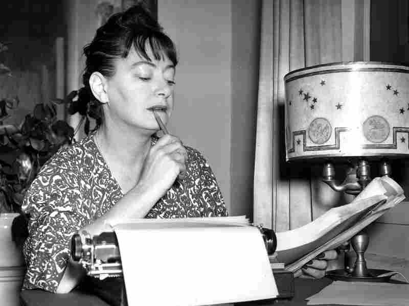 Author Dorothy Parker works at her typewriter in 1941. After her death at 73, Parker's ashes were stored in a file cabinet until being interred at NAACP headquarters in Baltimore.