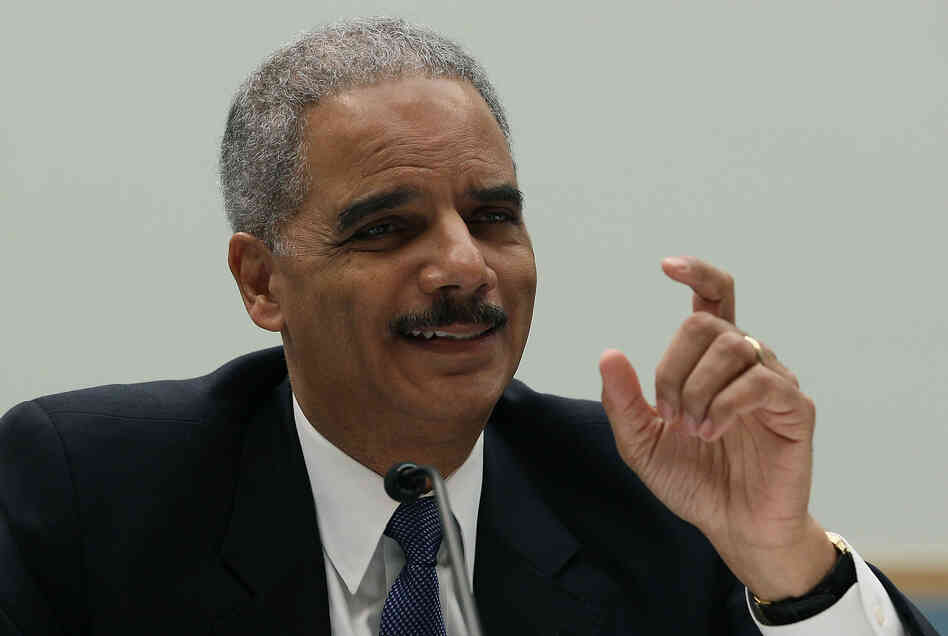 Attorney General Eric Holder testifies during a House Judiciary Committee hearing on Capitol Hill.