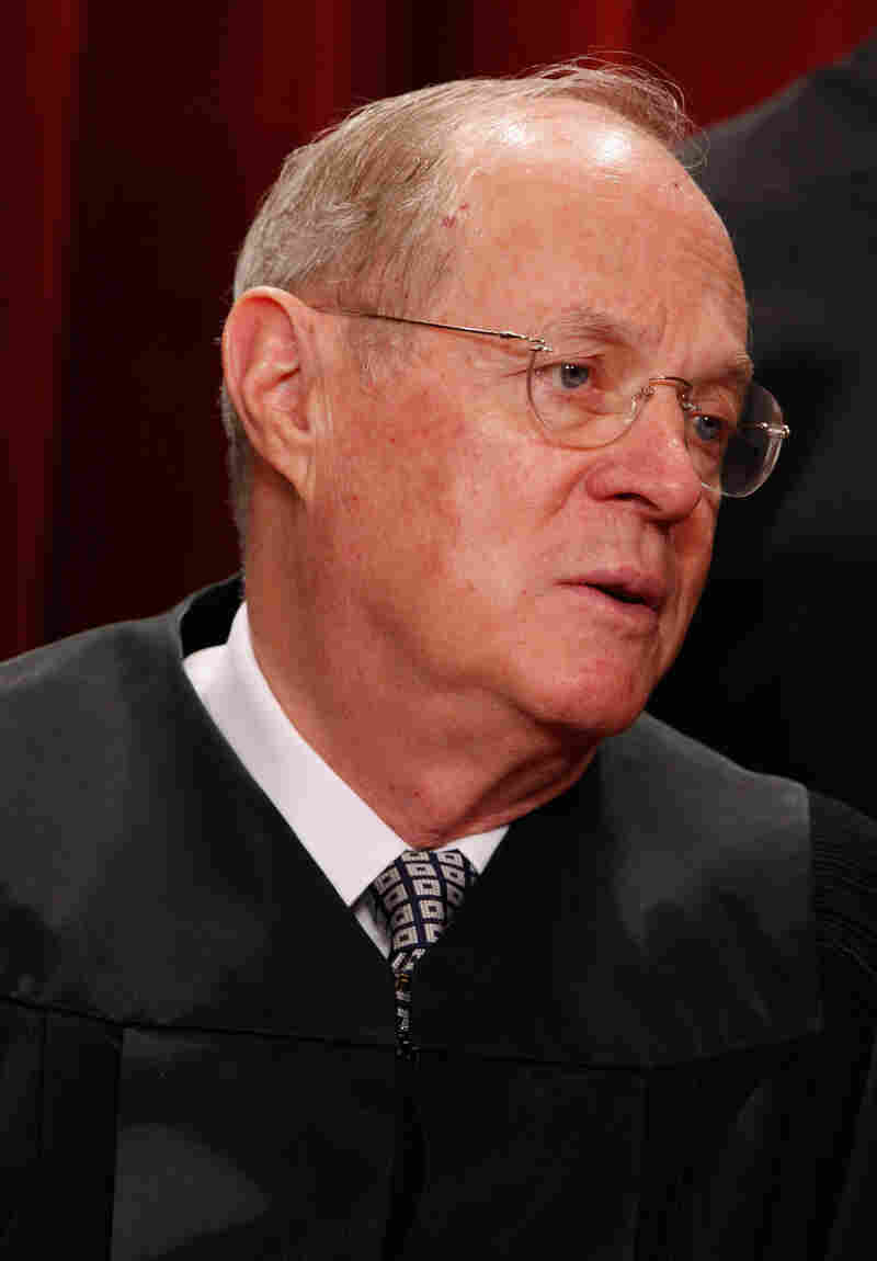 Justice Anthony Kennedy, who wrote the Citizens United opinion saying that corporations can pay for ads expressly promoting or attacking political candidates.