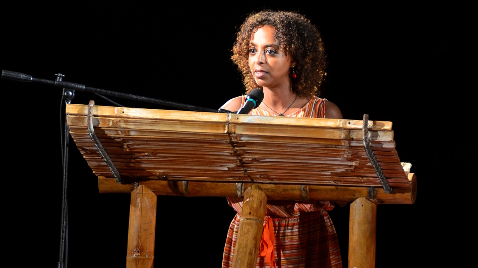 Ethiopian novelist Maaza Mengiste reads from her latest novel on the second night of this year's Calabash festival. Mengiste says the audience at Calabash is one of a kind. ( )