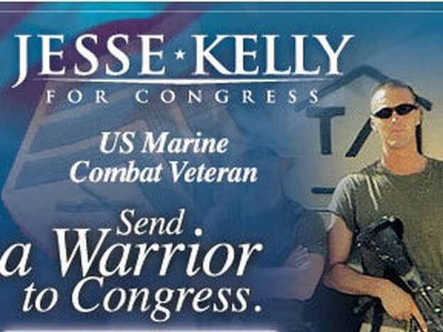 A PAC supporting Kelly sent this image from his 2010 campaign in a fundraising email.