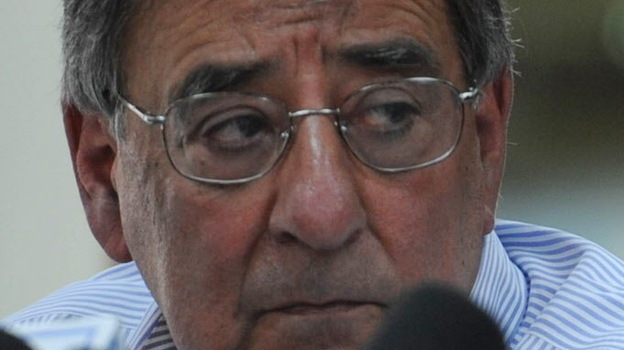 Defense Secretary Leon Panetta earlier today in Kabul. (AFP/Getty Images)