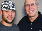 Jose Rodriguez and Charles Zelinsky at StoryCorps in Trenton, N.J. Jose is now a Special Olympics coach — he'll be overseeing games this weekend.