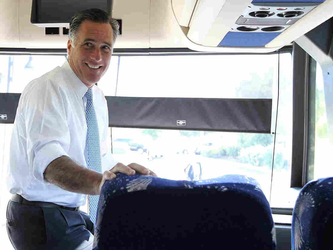 Former Massachusetts Gov. Mitt Romney in California last week.