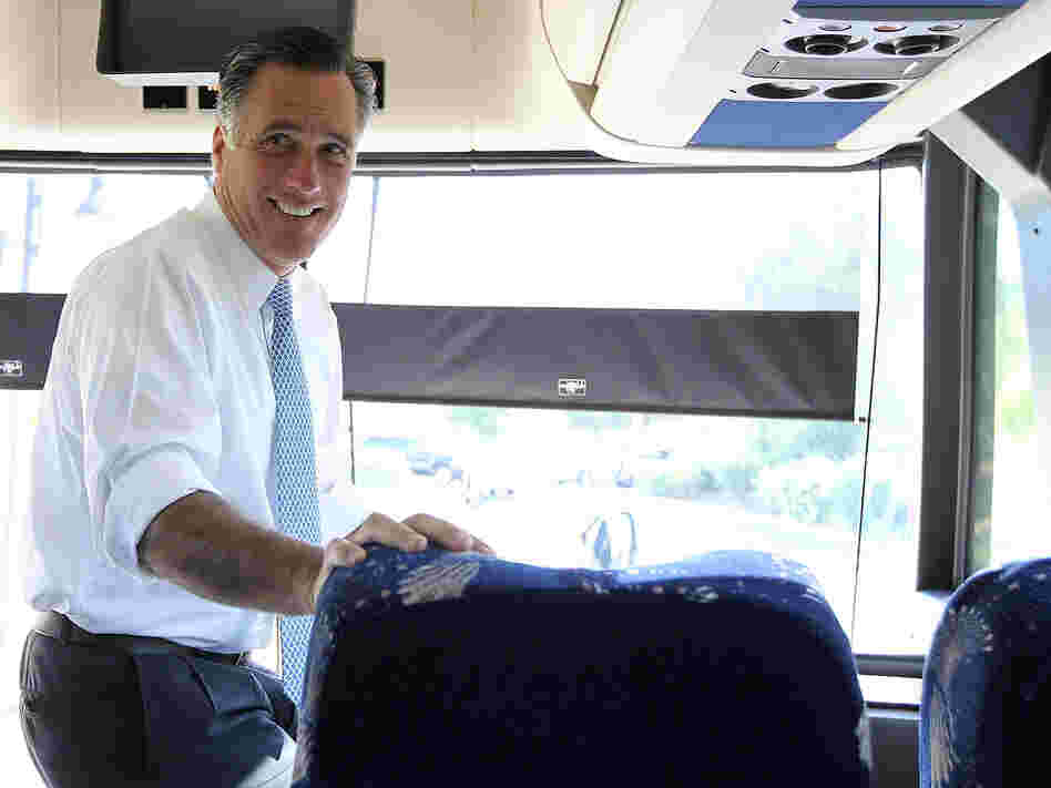 Former Massachusetts Gov. Mitt Romney in California last week.